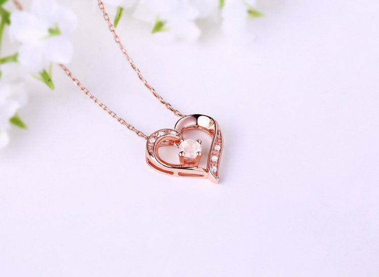 2019 new arrival jewelry Apatite 925 sterling silver heart pendant necklace