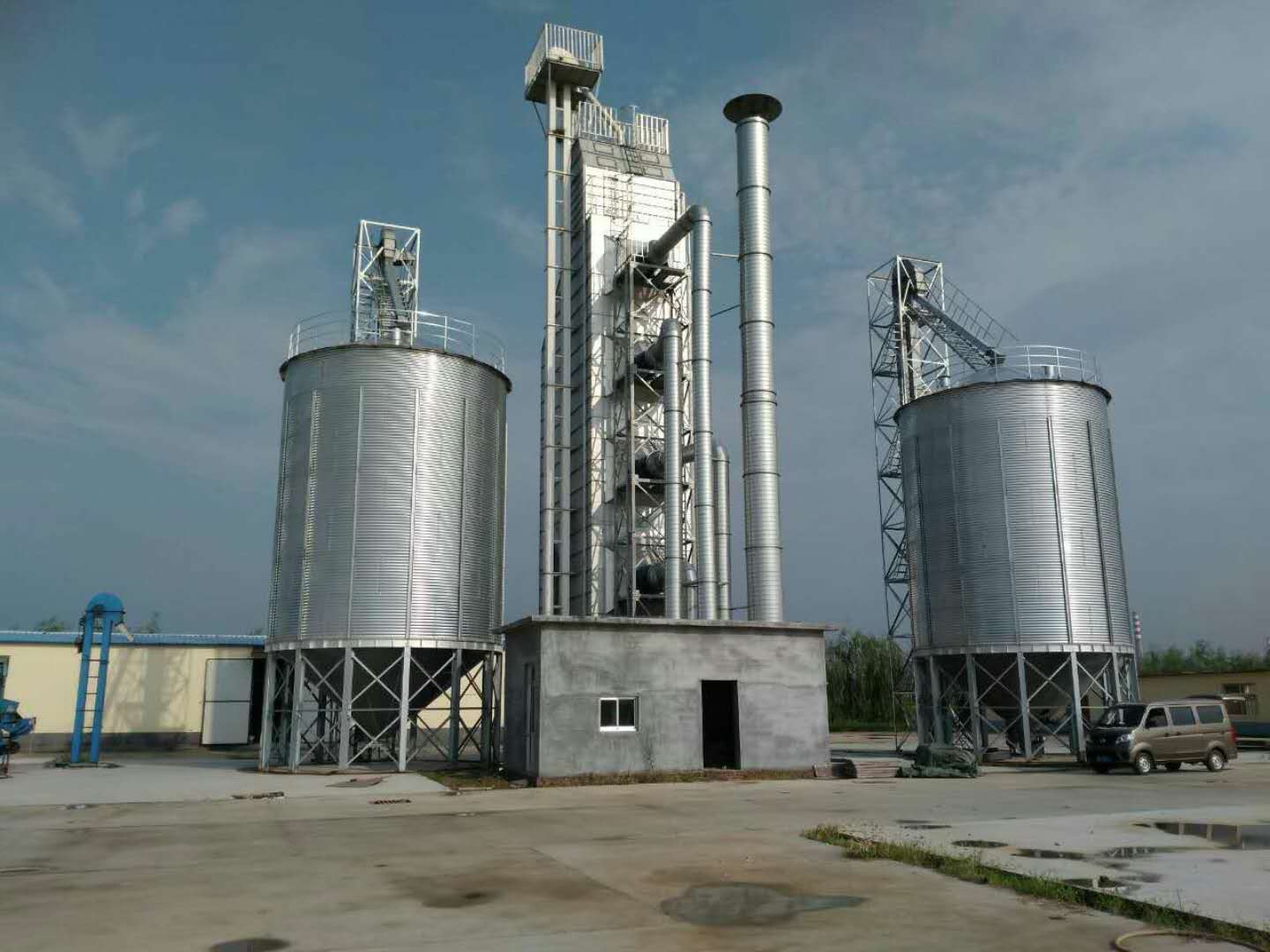 Galvanized bolted type silo for wheat paddy grain flour mill storage