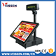 Factory wholesale cheap pos machine , pos system with 5 bill & coin slots cash drawer