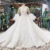 Jancember AHTL615 Elegant ostrich feather White Tulle and Lace Bridal Gown with Appliqued Wedding Dress