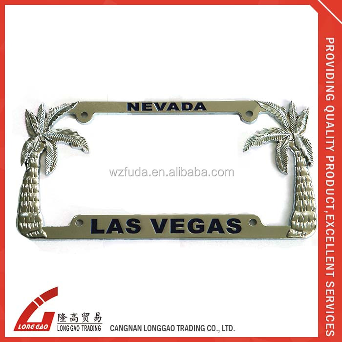 Plastic car license plate frame/zinc alloy license plate holder/Stainless steel license plate cover