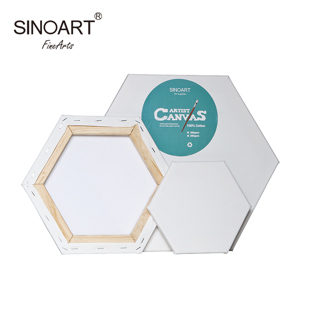 2020 New Design Hexagonal Stretched Canvas For Painting Manufacturer
