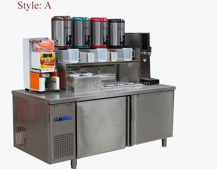 2016 hot sale custom stainless steel refrigerator / freezer bar operation counter horizontal freezer for milk tea table custom various counter commercial refrigerated prep counters