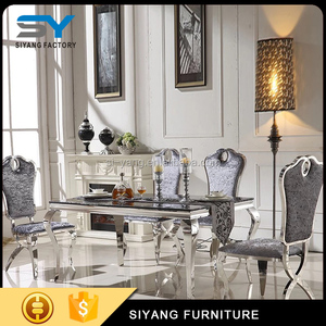 Dining room furniture wedding table mirror long cheap dining tables for sale CT003