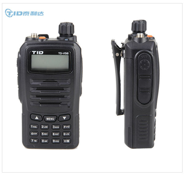 TID TD-V58 VHF UHF 5W Handheld LCD Keypad Two Way Radio professional radio