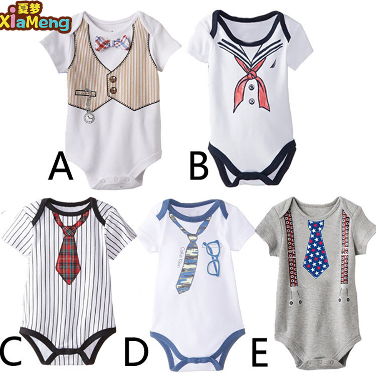 2017new design high quality sports style baby boys romper