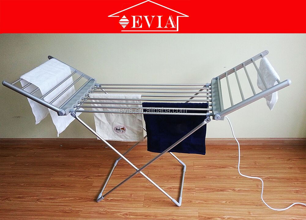 EVIA Electric Heated Clothes Towel Airer Dryer,Foldable Energy security warmer garment drying rack