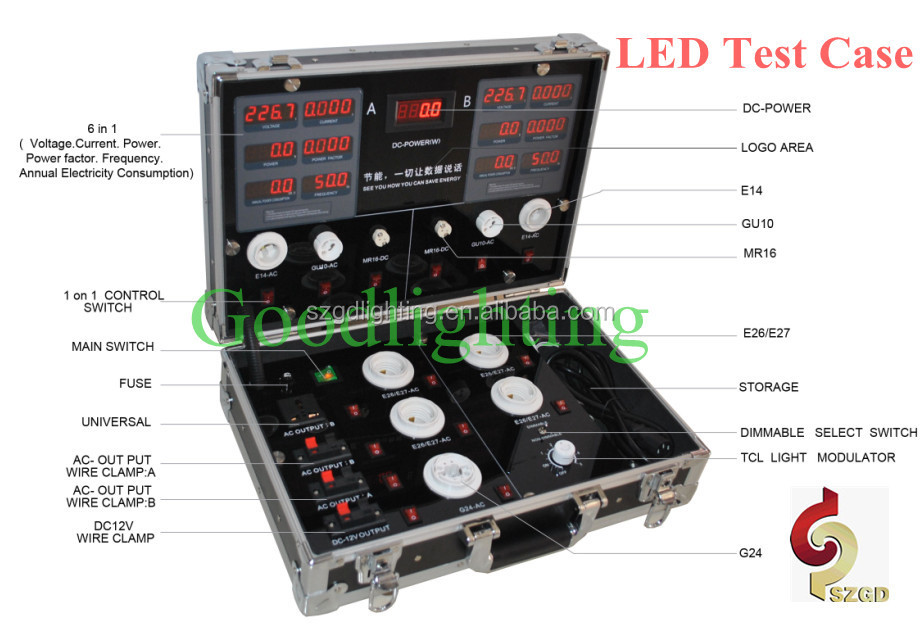 Goodlighting LED Demo Box Portable LED Sample Test Case for Bulb Testing