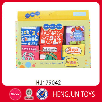 Intelligence toy Six small cloth book for kids
