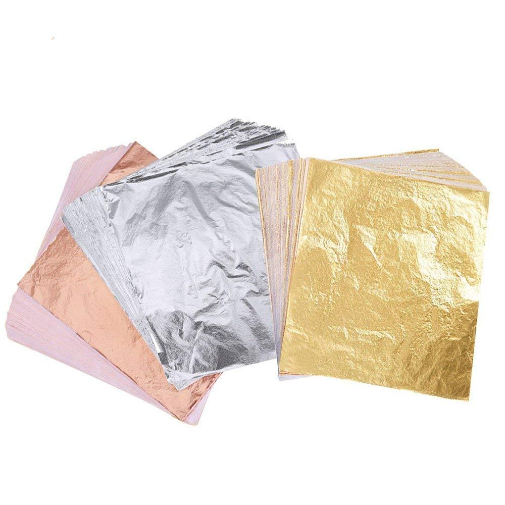 Buy Imitation Gold Leaf, 300 Sheets Imitation Gold Leaf