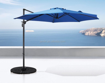 Outdoor Patio Garden Aliminium & Steel Parasol Umbrella turning 360