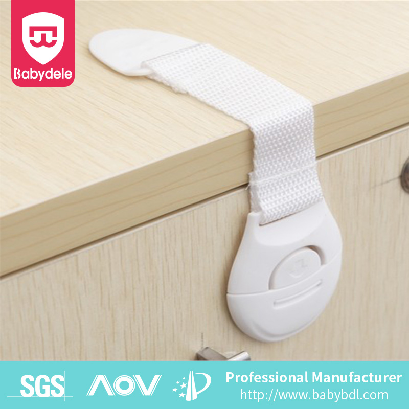 child and safety baby Plastic Straps lock /latches for drawer cupboard box fridge cabinet door