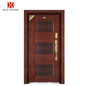 Simple Newest Design Back Door Security Steel Entry Doors With Turikish Style