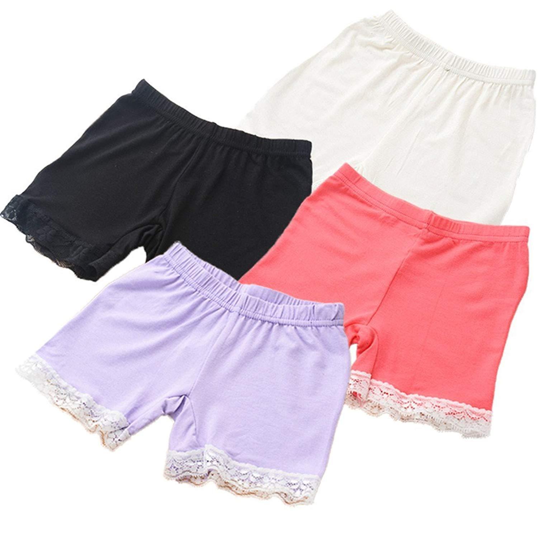 DVANIS Little Girls Fashion Boyshort Kids Girls Briefs Underwear Pack of 5