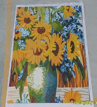 mosaic picture sunflower pattern for reading room decoration