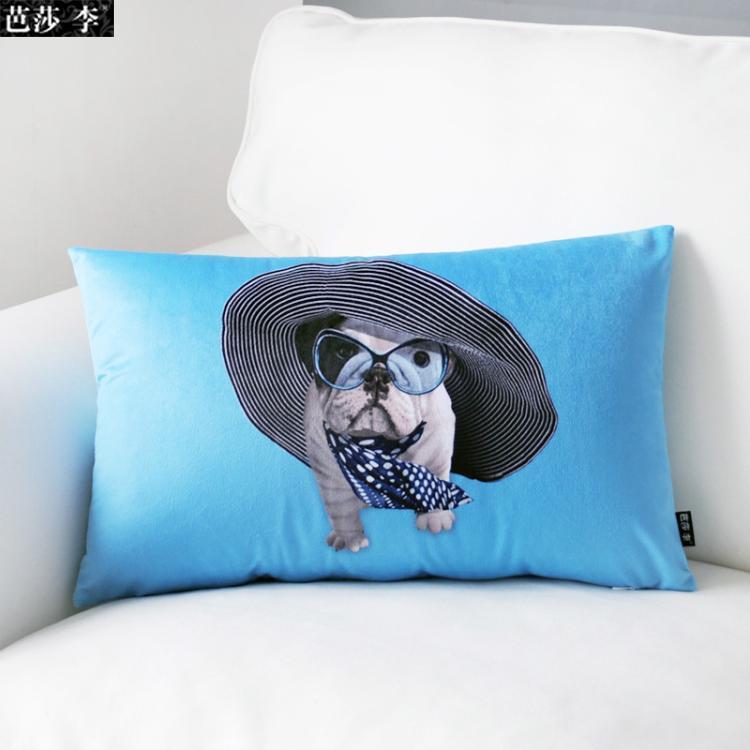 mode fran ais bulldog d cor oreiller voiture lombaire oreiller coussin de si ge de voiture de. Black Bedroom Furniture Sets. Home Design Ideas