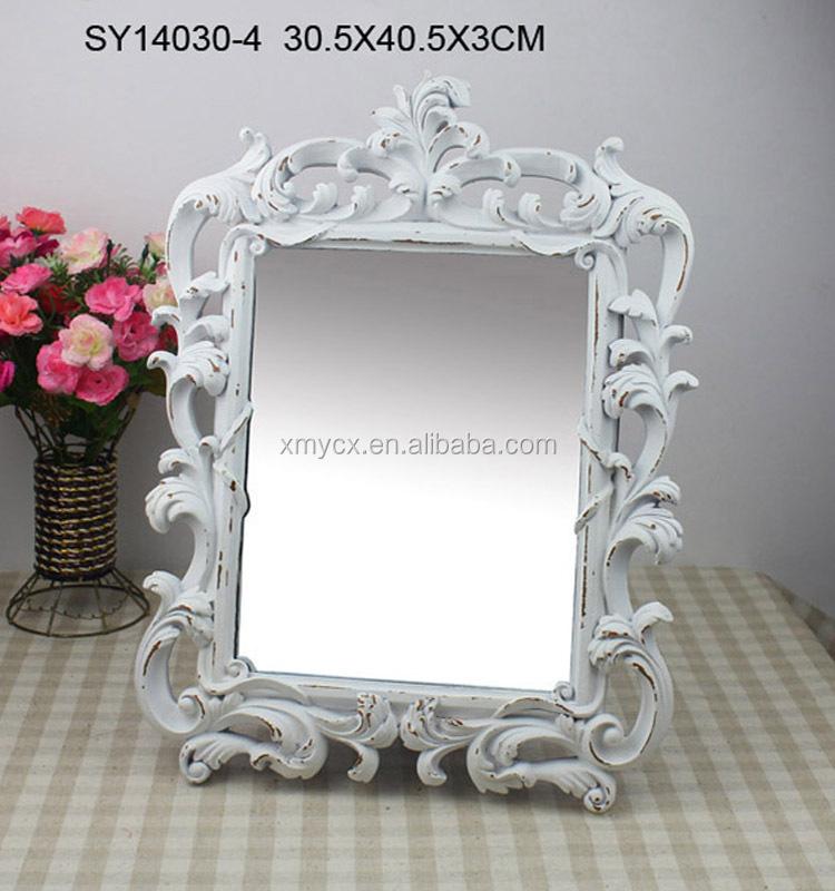 Polyresin Hotel Baroque Adjustable Bathroom Mirror Frame
