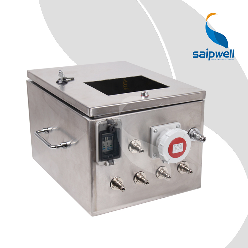 SAIP/SAIPWELL IP66 waterproof outdoor electrical distribution box/stainless steel Button Switch electrical enclosure
