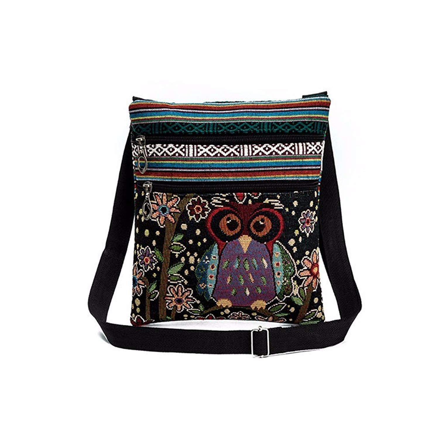 Liraly Women Bags,Clearance Sale! Embroidered Owl Tote Bags Women Shoulder Bag Handbags Postman Package