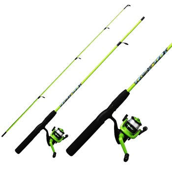 "5'6"" fiber glass 2 sections spinning Fishing Rod Reel combo for kid / youth"