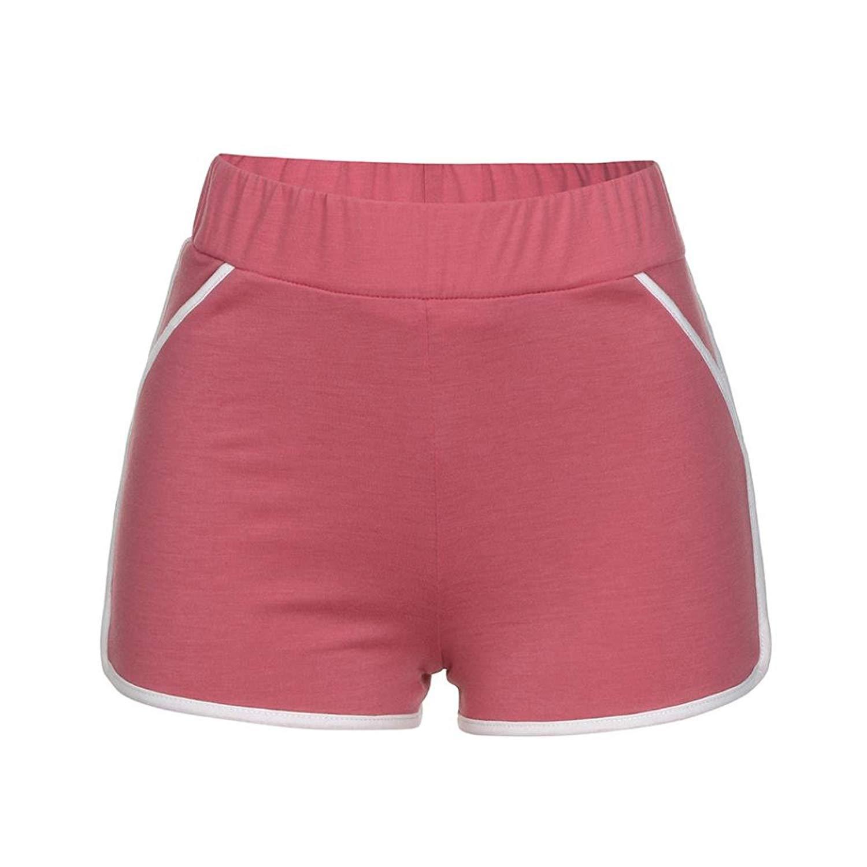 97563d009c Get Quotations · BCDshop_Shorts Women Sports Gym Workout Yoga Running  Skinny Shorts Summer High Waistband Pants