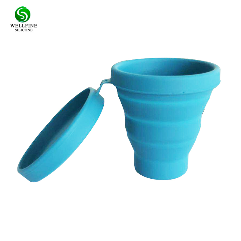 Travel Collapsible Silicone Coffee <strong>Cup</strong>,Silicone Folding <strong>Cup</strong> with Lid Together