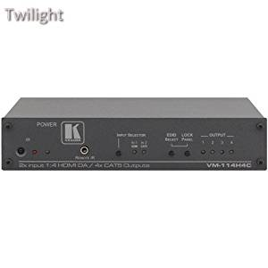 Kramer 2-Input 1:4 HDMI Twisted Pair Transmitter & Distribution Amplifier