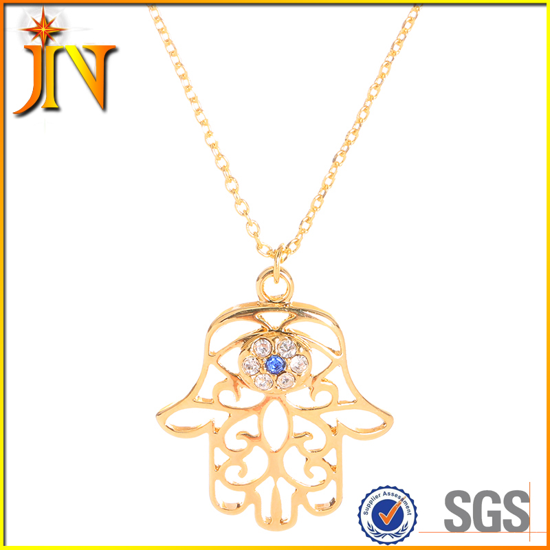 TN0110 JN Jewelry wholesale Hamsa Hand Collares Vintage Ethnic Michael Scofield hand T-BAG hand Pendant & Necklace