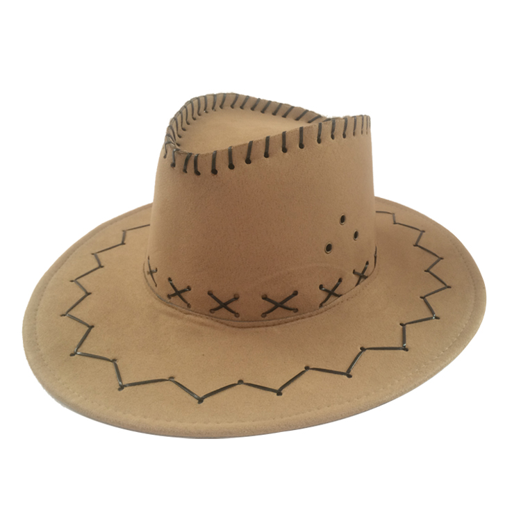 Factory Pink Suede Leather Adult Plain Custom American Western Mens Cowboy Hats