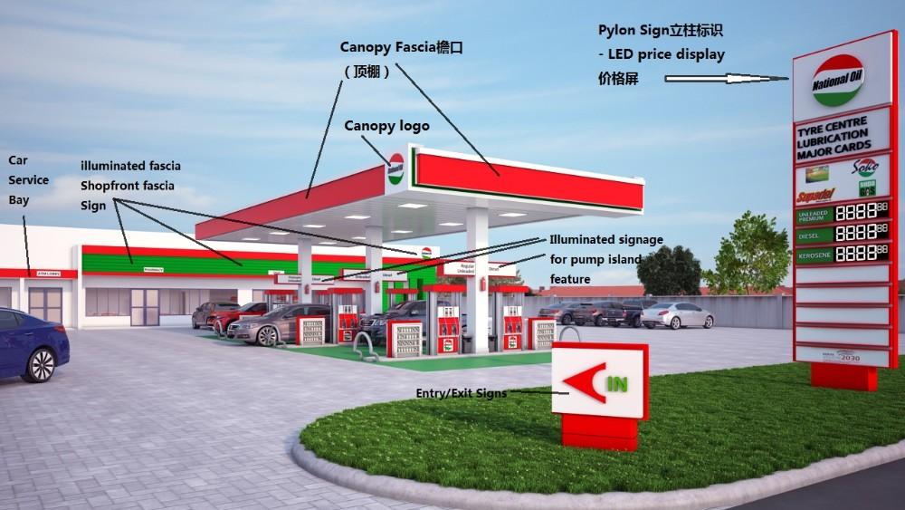 Led Screen Brand Logo Glows Pylon Gas Station Led Price ...