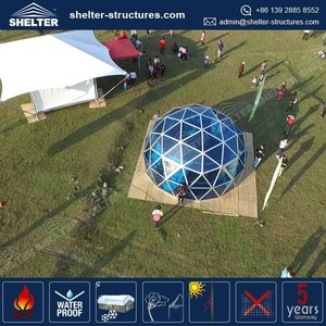2016 Shelter Structures glass cover metal frame geodesic dome house, glass dome tent