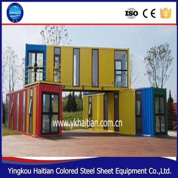 Latest Modern Low Cost Compound Design Commercial Prefabricated Color Steel  Container House For Sale - Buy Modern Container House,Low Cost