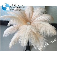 Beige ostrich feather plumes for wedding centerpieces party event supplies decoration