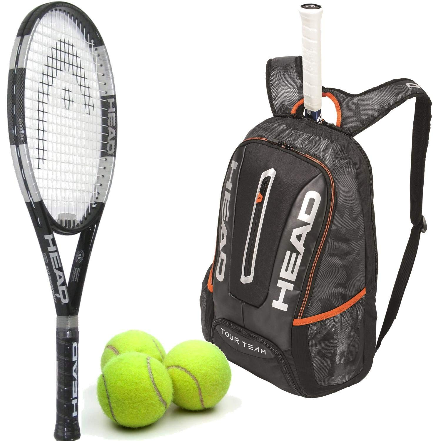 HEAD Titanium Ti S6 Extended//Oversized 16x19 Tennis Racquet Starter Set or Kit Starter Set or Kit Bundled with a Tour Team Bag and 1 Can of 3 Tennis Balls