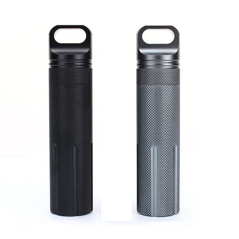 Super Strong CNC Outdoor Waterproof Bottles Emergency First Aid Survival Pill Bottle Camping EDC Tank Box for Cigarettes Matches