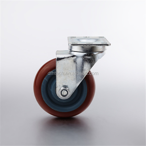 Good price 3 inch 4 inch 5 inch industrial fixed caster with PU wheel (FHJ-302/402/502)
