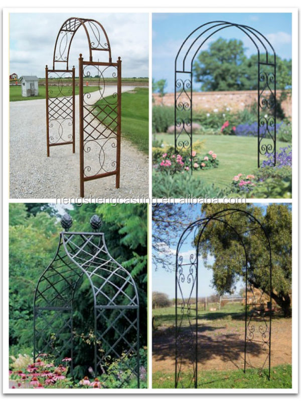 Decorative Artistic Wrought Iron Arch Garden Arch Rose