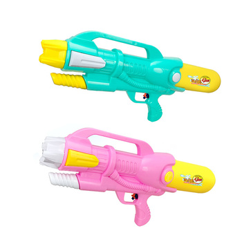 Wholesale summer sand beach two colored mix kids plastic game toy for water park single spray water gun toy