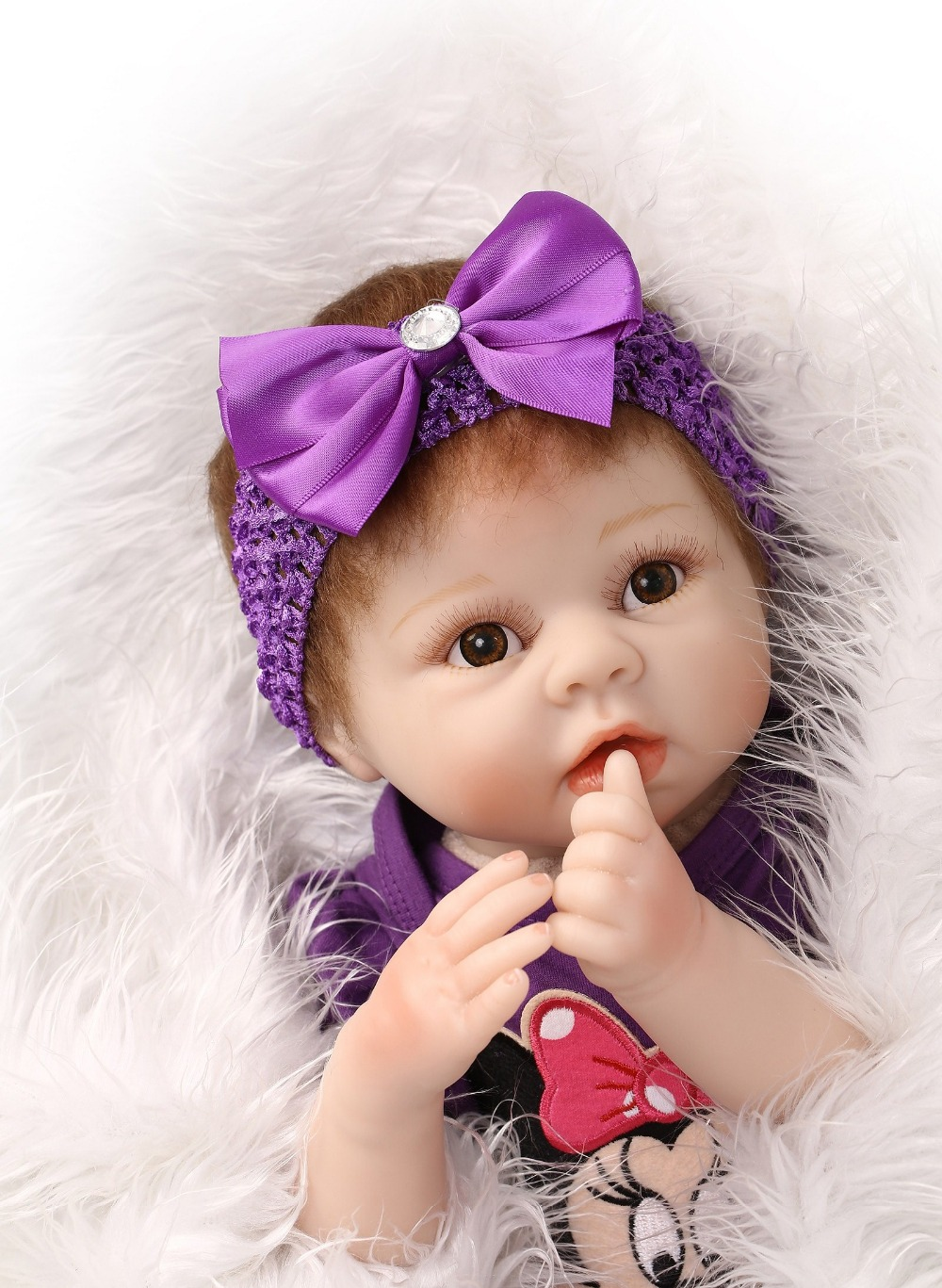 22 Inch NPK Reborn Dolls Collection Handmade Realistic Silicone Baby Doll Lifelike Newborn Dolls With Clothes