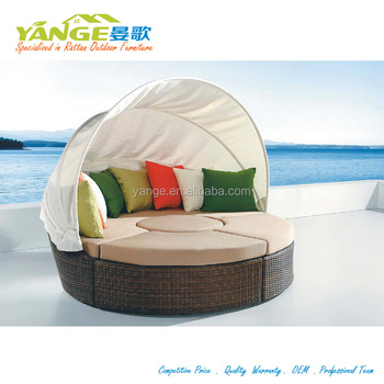 Round Bed Sun Lounger Sofa Beach Chair