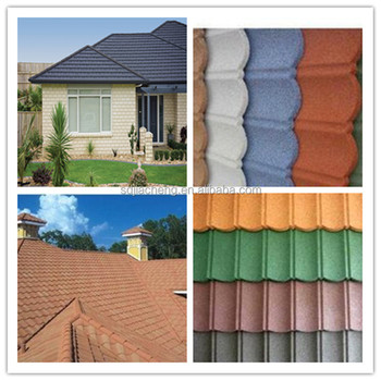 House Construction Material/construction Materials Price List/stone Coated  Metal Roof Tile