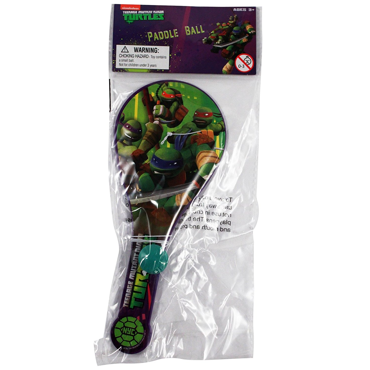 Nickelodeon Officially Licensed Ninja Turtles Kids Paddle Ball Toy