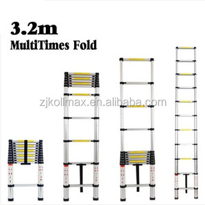 3.2M NEW TELESCOPIC MULTI PURPOSE ALUMINIUM LADDER EN131 EXTENDABLE