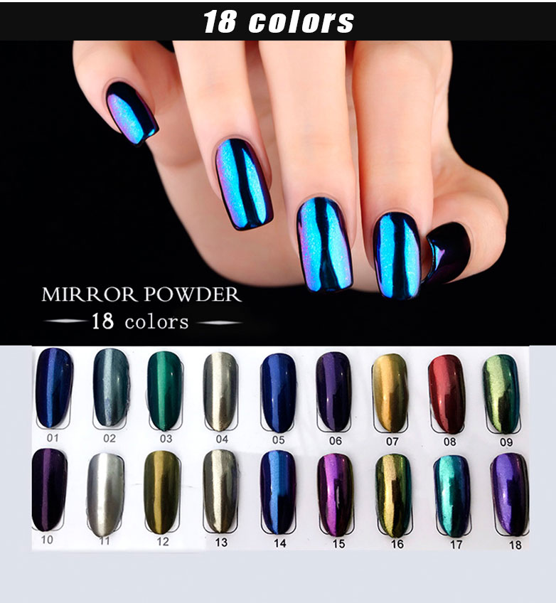 2018 Rnk Manufacturer Newest Nail Products Soak Off Uv Chrome Magic ...