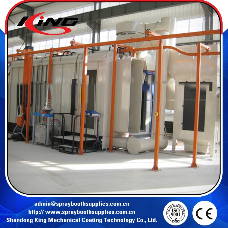 automatic spray powder coating line equipments