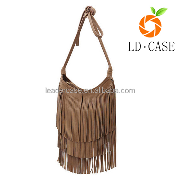 European and American Style shoulder bag Women Handbags Tassel Bag with PU Leather