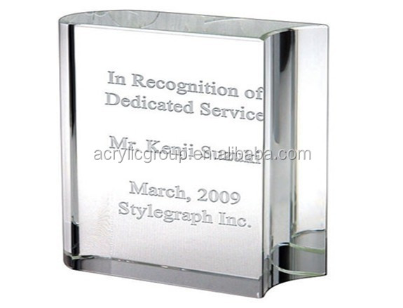 Letter Printed Crystal Acrylic Paper Weight