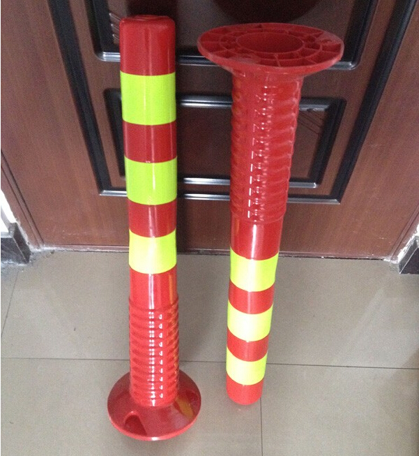 High quality flexible plastic traffic safety spring bollard
