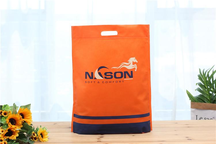 열 씰링 d 컷 쇼핑 토트 큰 재활용 핸들 비 짠 가방