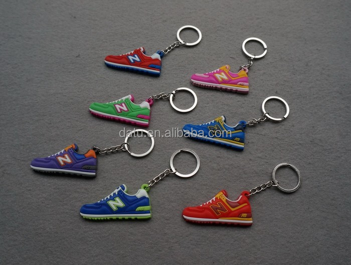 full color print mini sneaker 3d keychain for promotion